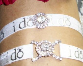 I do Rhinestone Garter,Garter,Garter Set,Garter,Plus Size Garter,Plus Size Bride,Elegant Garter,Wedding,Bridal Accessories,Bridal