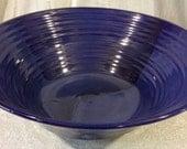 Large Cobalt Blue Pottery Bowl