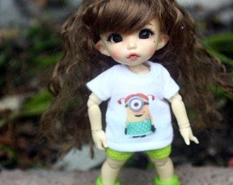 B304 - Lati Yellow / pukifee Outfits - T-shirt  and short pants.