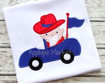 Machine Embroidery Design Applique Southern Gentleman Mascot Car INSTANT DOWNLOAD