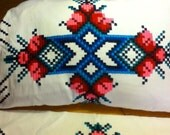 Pair of Embroidered Pillow Cases