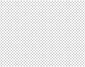 1/2 Yard of Swiss Dots White with Black Pin Dots Fabric by Riley Blake