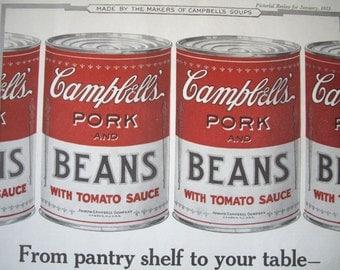 Campbell's Advertisement 1923 Vintage Print
