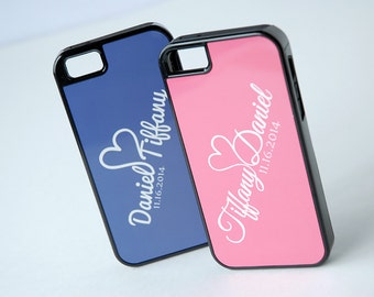 Personalized Phone Case for Couples, iPhone 4, 4s, 5, 5s, 5c, 6, 6+, Plus, Cool Couple Phone Cases, Monogram Phone Cases