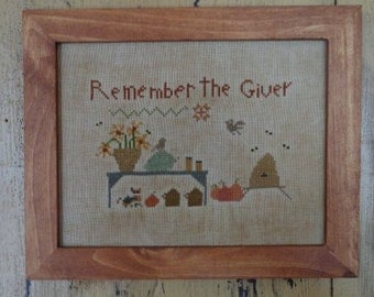 Primitive Cross Stitch Pattern REMEMBER THE GIVER pdf