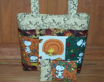 Snoopy Fall Purse and Zippered Pouch