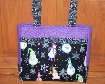 Snowman Winter Handmade Purse