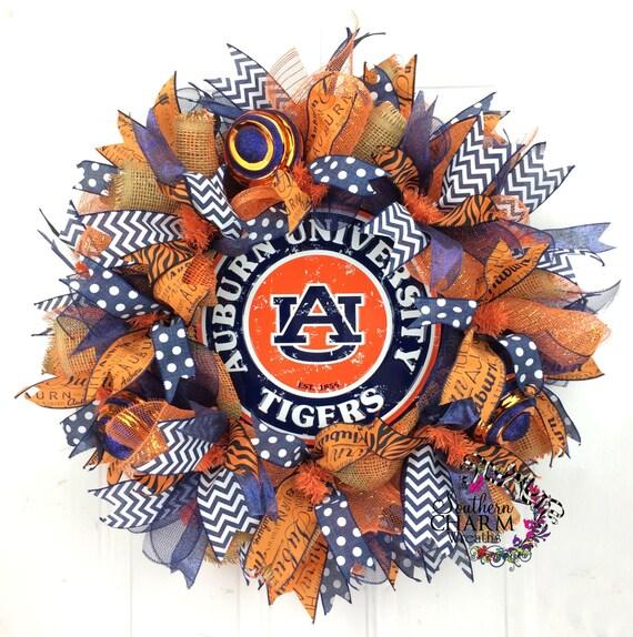 Auburn University Wreath Auburn Wreath Auburn Tigers Decor
