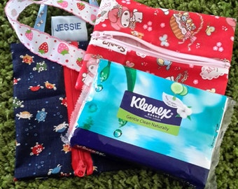 Handmade Travel Size Tissue Pouch in licensed char prints (eg Sanrio Hello Kitty, My Melody)