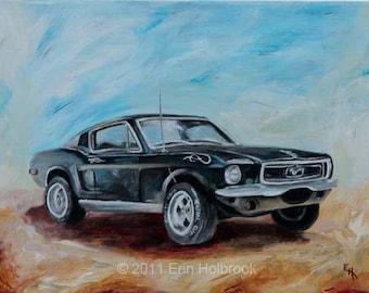 Car Portraits - Custom Classic Car Painting, Vintage Car Art, Car Enthusiast Gift, Acrylic Painting