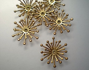 6 3-D flower stamen stampings