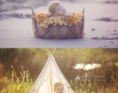 Organic Basket Style #5 - Newborns Sitters Toddlers - Photography Prop
