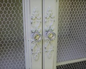 Vintage Cottage White Cabinet - Armoire - Hutch