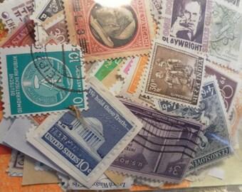 50 Vintage Postage Stamps