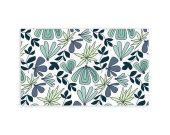 Air Plants & Succulents - Little Notes - Set of 10 Enclosure Cards, Envelopes, Gold Closure Stickers - Florals - Modern - Pattern - (LN411)