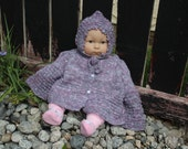 Ready to ship, Cotton Baby Toddler Size Cardigan Sweater Jacket with bonnet handmade, Baby Cardigan, This listing is for +1 Years-old