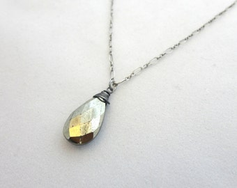 Simple Pyrite  Necklace