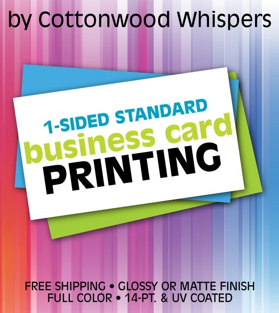 Custom 1 Sided Business Cards Printing and Design FREE