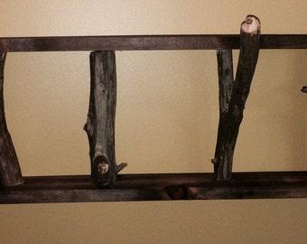 Natural Framed Tree Branch Coat Rack