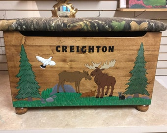 Alaskan Forest Friends Themed Toy Box