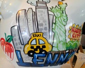 Personalized Piggy Bank City of Your Choice Landmarks Handpainted
