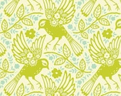 SALE Meadowlark in Chartreuse from Heather Bailey Up Parasol 1 yard
