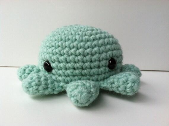 Octopus Amigurumi Plush : Amigurumi Crochet Mint Green Octopus Plush Toy Kawaii Plush