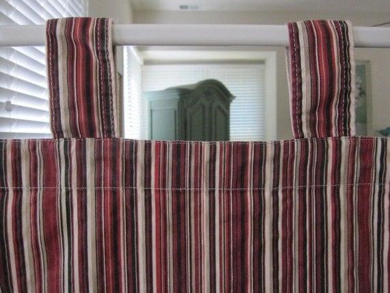 Tab Top Curtain Multi Striped Cotton Duck Tab Top Curtain 80