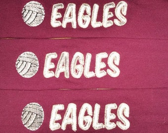 Custom Lot of 3 Personalized Embroidered Knit Stretch Team Volleyball Headbands