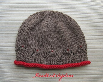 "Instant Download Knitting Pattern #204 Hat ""Vassilissa"" for a Lady"