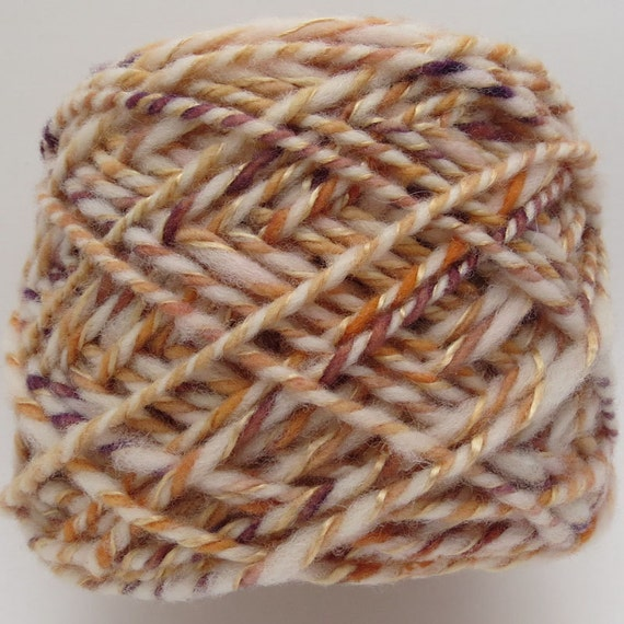 Handspun Thick & Thin Yarn - 68 yards - 3 ply