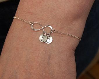 Personalized Infinity Bracelet, Infinity bracelet, initial bracelet, mothers bracelet, Sisters Bracelet,  Friendship Bracelet