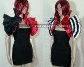 Reversible Harley Quinn or Ringmaster Dramatic Shrug Cosplay Bolero  EMO  Costume Circus Masquerade party