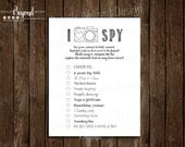 I SPY Wedding Photography Game - Children's Game card - Photo scavenger hunt checkoff list - Instant Download - PDF