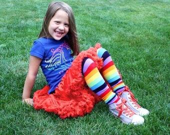 Girl's Rainbow Leg Warmers