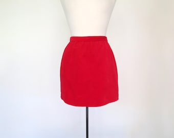 LOLITA // red velveteen mini skirt