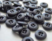 REDUCED - Dark Deep Purple Colored Buttons - 3/4 inch - 45 - See Shop Announcement for Discount Code