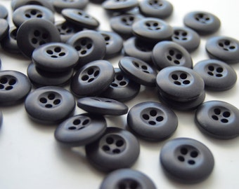Dark Deep Purple Colored Buttons - 3/4 inch - 45