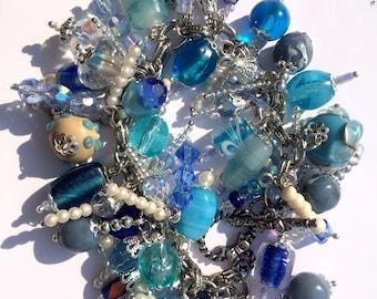 blue cha cha charm beaded bracelet www