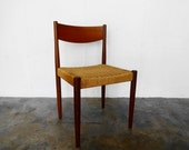Danish TEAK and ROPE CHAIR by Frem Rojle