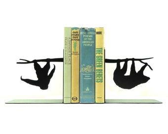 Sloth Metal Art Bookends - Free USA Shipping
