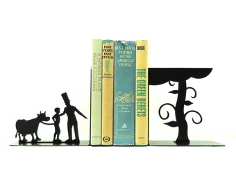 Jack And The Beanstalk Bookends - Free USA Shipping