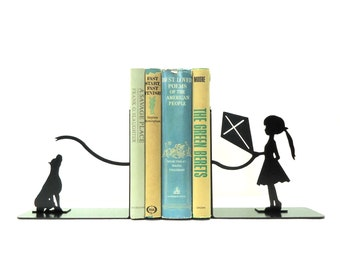 Kite Metal Art Bookends - Free USA Shipping