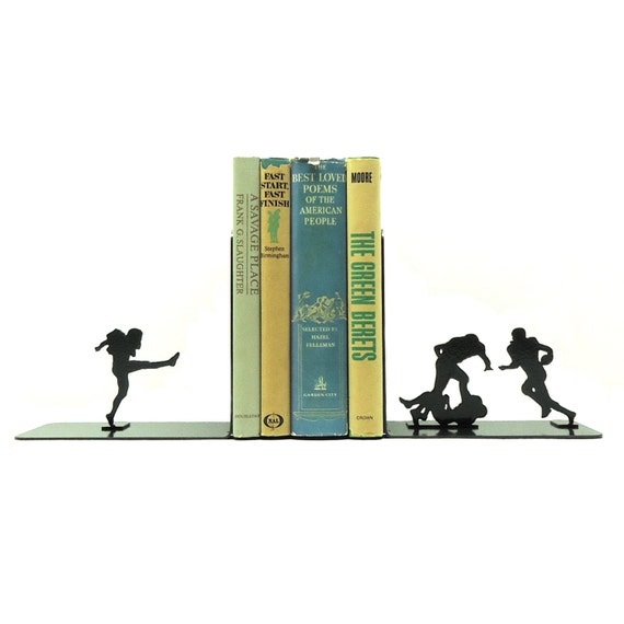 Football Metal Art Bookends - Free USA Shipping