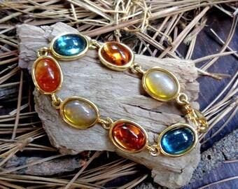 Multi-color Cabochon Bracelet - 7218