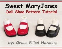 Sweet MaryJane No Sew Doll Shoes Pattern PDF Pictorial Tutorial Bratz Moxie Dolls Fashion Dolls by Grace Filled Hands