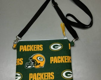 Green Bay Packers purse messenger bag handmade