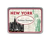 SALE New York Cavallini Small Rubber Stamp Set