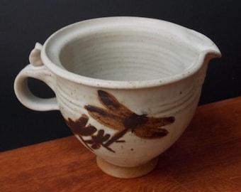Stoneware Batter Bowl ~ Dragonfly Design ~