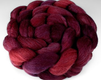 Polwarth Silk Top, Handpainted, 4 oz., Flathead Cherry